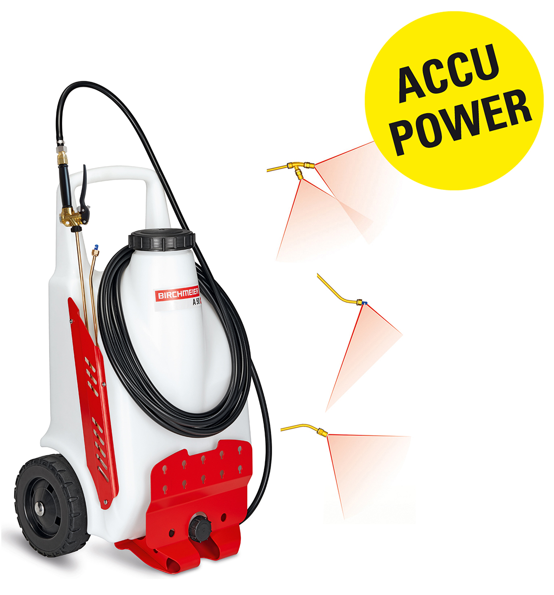 Two-wheeled battery sprayer 14 - 145 psi A 50 AZ1 with Li-on battery from Birchmeier