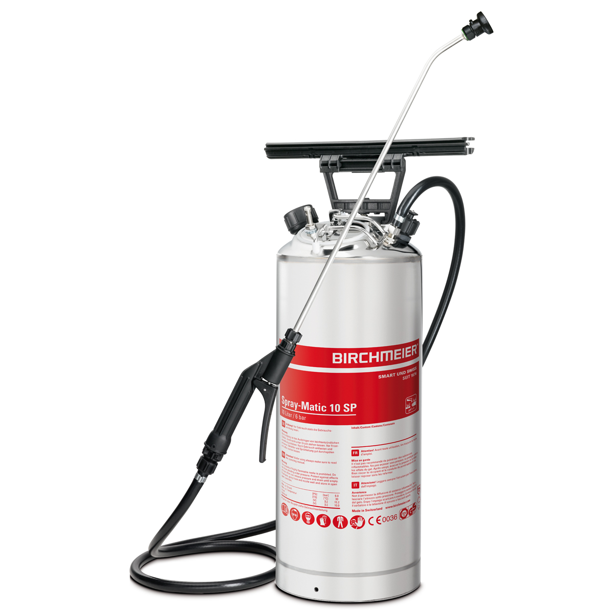 Spray-Matic 10 SP with stainless steel hand pump and compressed-air union