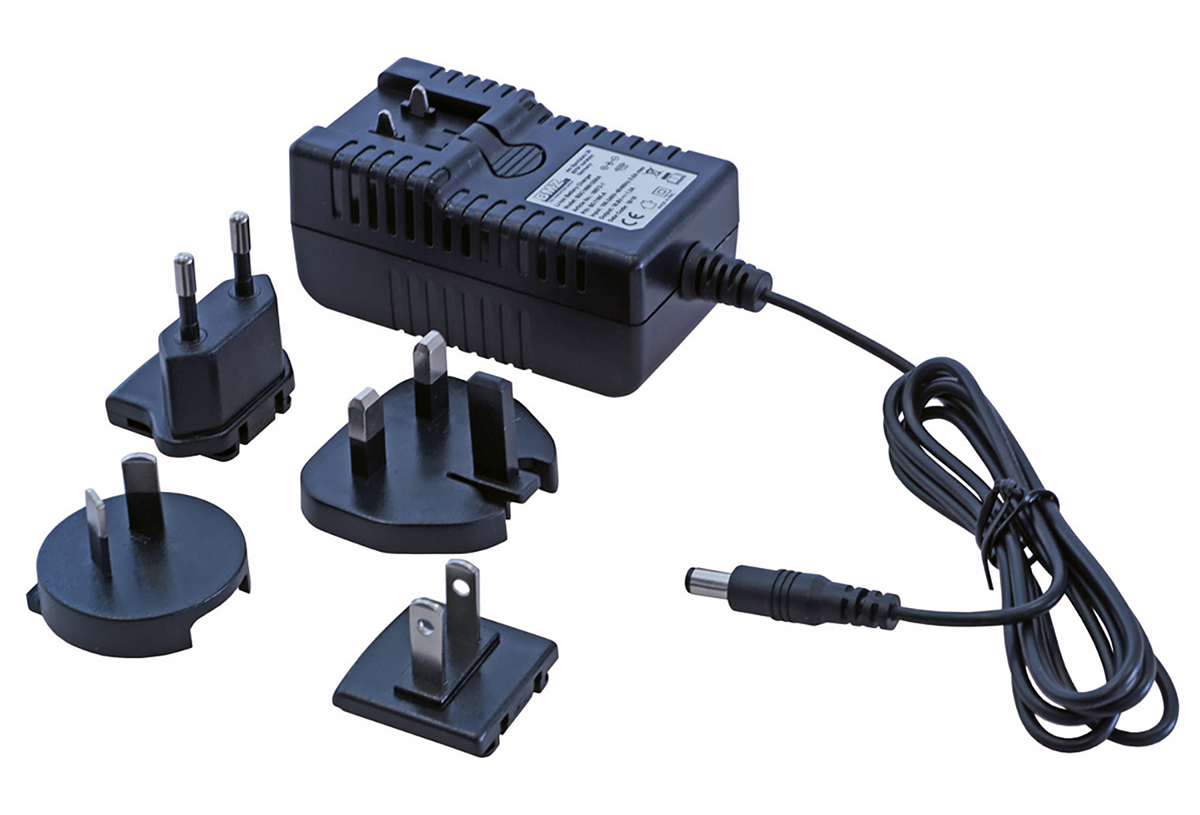 Charger 100-240 V / 50-60 Hz, incl. 4 plug adapter
